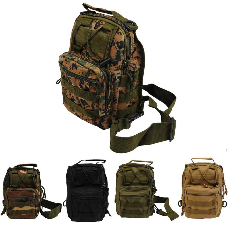 Camping Hiking Backpack Camouflage Style Riding Bag Canvas Outdoor Accessories Portable Shoulder Bag Outdoor Gadget