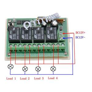 Image 4 - CLAITE 1/2/5 PCS 12V 4CH 433Mhz Wireless Remote Control Switch Integrated Circuit With 2 Transmitter DIY Replace Parts Tool Kits