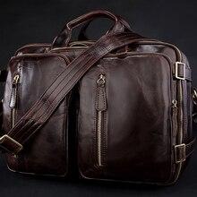 Новинка, многофункциональная мужская сумка-мессенджер из натуральной кожи, кожаная сумка через плечо, мужская сумка через плечо, сумка-тоут, сумка для выходных
