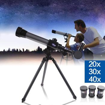 20x 30x 40x teleskop astronomiczny odkryty monokularowy teleskop astronomiczny teleskop ze statywem przestrzeń niebo monokularowy teleskop tanie i dobre opinie CN (pochodzenie) telescope