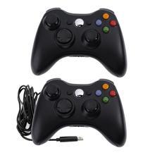 Joystick de controle do jogo do gamepad da vibração dupla para microsoft xbox 360 xbox 360 magro para o joystick do gamepad do windows do pc