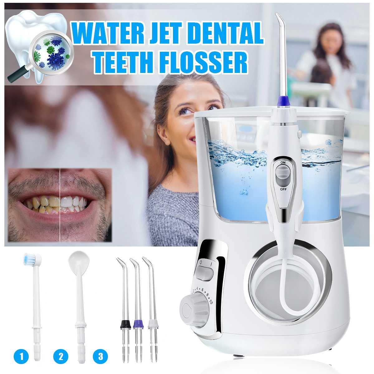 600 ML UV jet d'eau Dentaire brosse à dents électrique jet dentaire irrigateur buccal Professionnel Dentaire Spa Unité Floss Oral Irrigateur