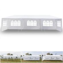 3 X 9m Outdoor Five Sides Waterproof Tent With PE Cloth & Iron Tube Spiral Tubes White Outdoor Canopy Party Event Wedding Tent 3 x 9m portable home use waterproof tent white high quality outdoor travel waterproof tent easy to install and use