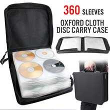360 диск CD DVD автомобильный чехол для хранения сумка альбом коллекционный держатель коробка для переноски Органайзер диск DJ Blu-Ray хранение кошельки искусственная кожа