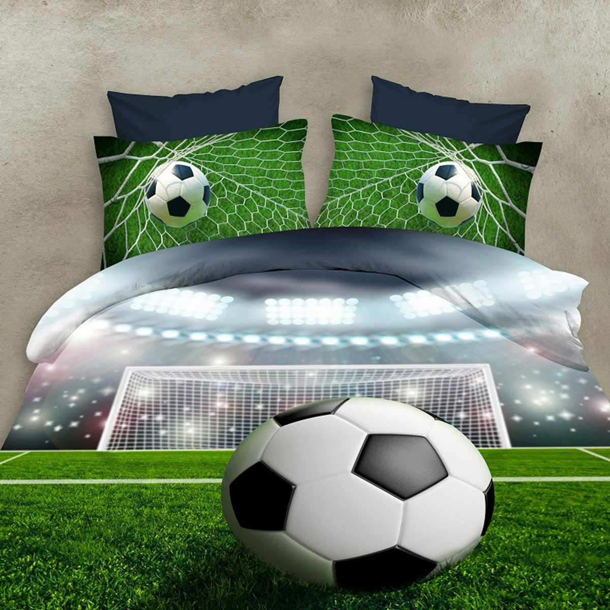 3Pcs Bedclothes 3D Bedding Sets Soccer Printed Quilt Pillows Cover Bed Fashion Bedspread For Football Game