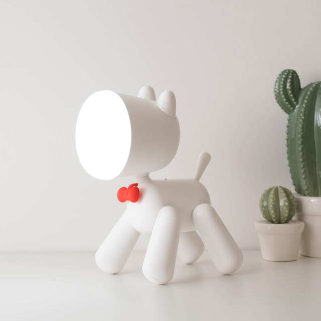 2019 Lovely Puppy Lamp Cute Night Light Kids Baby Night Lamp USB Rechargeable Reading Bedside Lamp Eye Protection Dropshipping