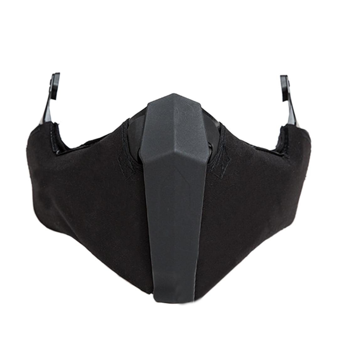 FMA Outdoor Activity Airsoft Breathability Mandible Half Face Mask For Helmet Rail - Black