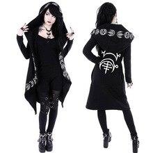 Girls Gothic Casual Jacket Magic Witch Wizard Cosplay Hoodie Sweatshirt Coat Hot