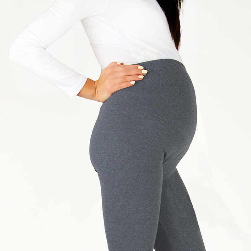 874c995ab684b 2019 Women High Waist Elastic Maternity Leggings for Pregnant Women Doll  Pregnancy Leggings Pants Maternity Cotton