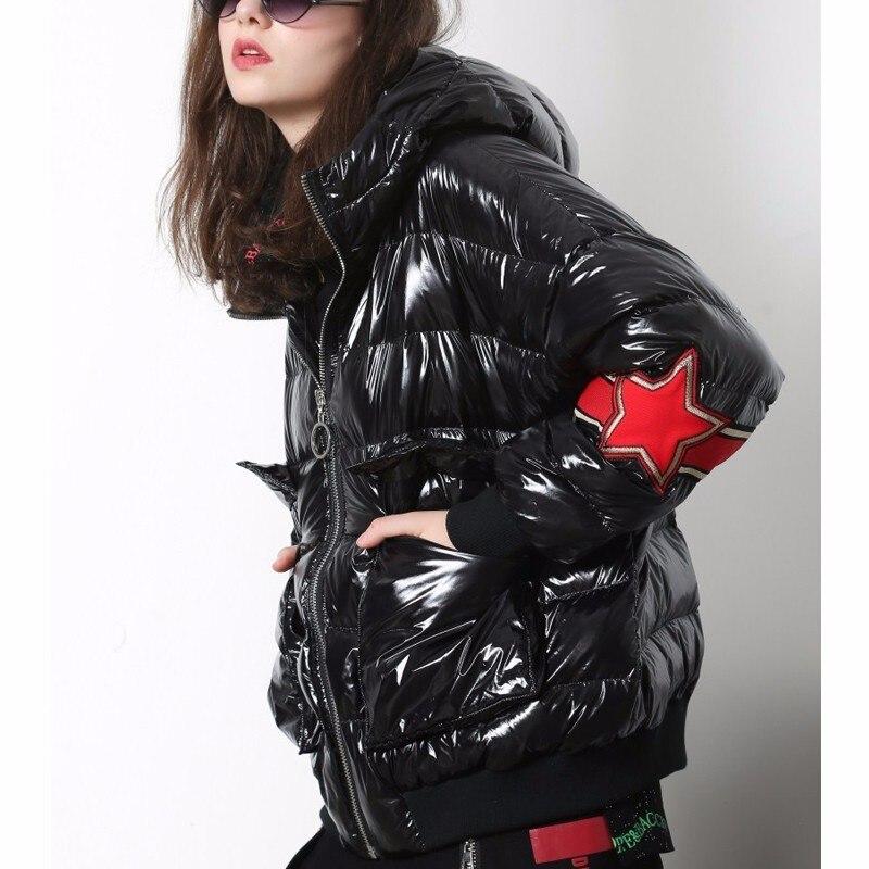 2018 Vintage De Femmes Femelle Capuchon D'hiver À Chaud Noir Dames Coréenne Streetwear Veste Manteau Neige Parkas Lulu Puffer Mujer Marque Max Luxe qB4Xx5Hn