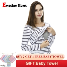 Emotion Moms Fashion pregnancy Maternity Clothes Maternity Tops T shirt Breastfeeding shirt Nursing Tops for pregnant