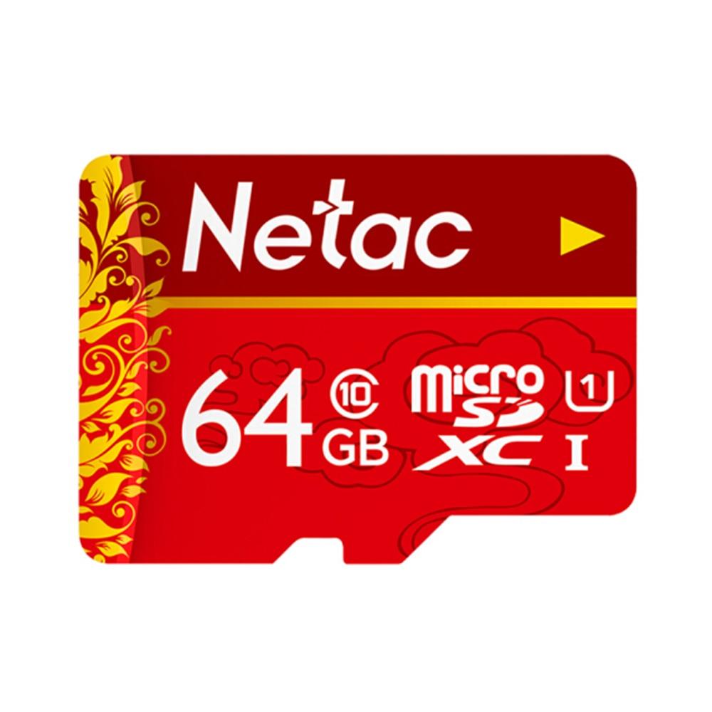 Netac TF () Memory Card U1 C10 Traffic Recorder Monitoring Camera Mobile Phone Storage Card Flash Card 64GB