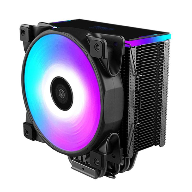 5 Heatpipe CPU Cooler 12cm RGB Fan Radiator CPU Gaming Cooling Fan with Controller for Desktop PC Cool System globo спот globo sinclair 5669 2