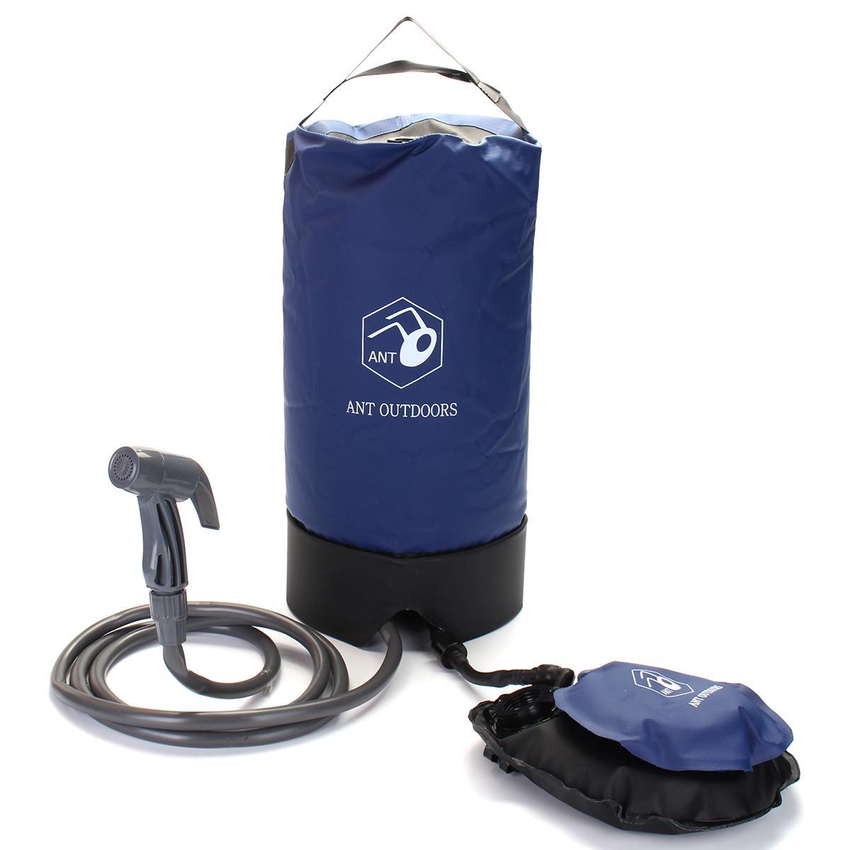 12L gonflable douche pression douche sacs d'eau Portable en plein air randonnée sac de douche pliant baril Camping sacs de stockage d'eau