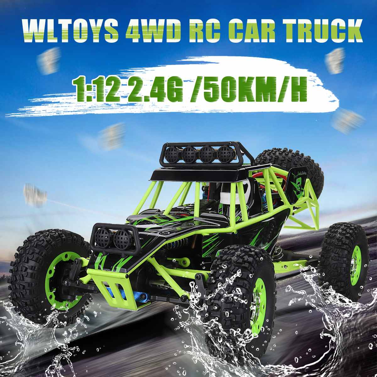 Wltoys 1:12 2,4g 4wd Rock Rc Alloy Crawler Rc Klettern Racing Trucks High Speed 4ch Fernbedienung Auto Off road Crawler Sammeln & Seltenes Rc-lastwagen