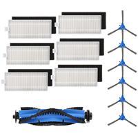 Acessórios compatíveis do robovac 30c robovac 15c  6 filtros  6 sid peças de reposição compatíveis eufy impulso iq robovac 11s robovac 30 Peças p/ aspirador de pó     -