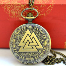 New Casual Men And Women Chain Watch Gifts 2019 Retro Stacked Triangle Pyramid Pocket Watch reloj de bolsillo relogio de bolso reloj bolsillo vintage bronze mens necklace watches pocket watch best gifts for men boys retro military man unisex gifts d