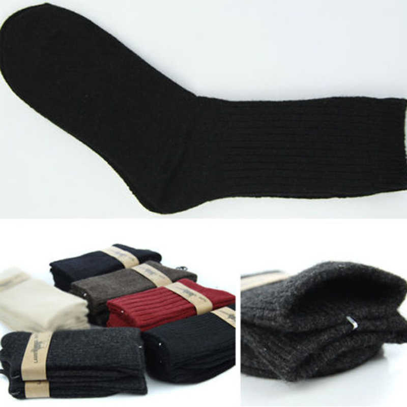 1Pair Women Men Wool Blend Sock Thermal Army Military Action Heavy Duty Winter Warm Fashion Casual Outdoor Thick Boot Socks 2019
