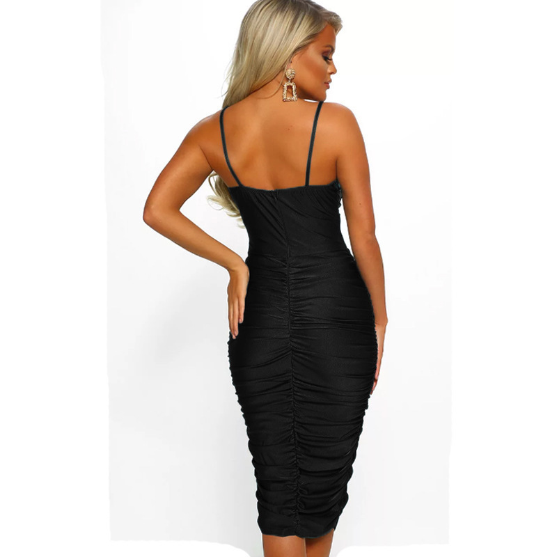 New 2019 European and American women 39 s sexy strap dress free shipping in Dresses from Women 39 s Clothing
