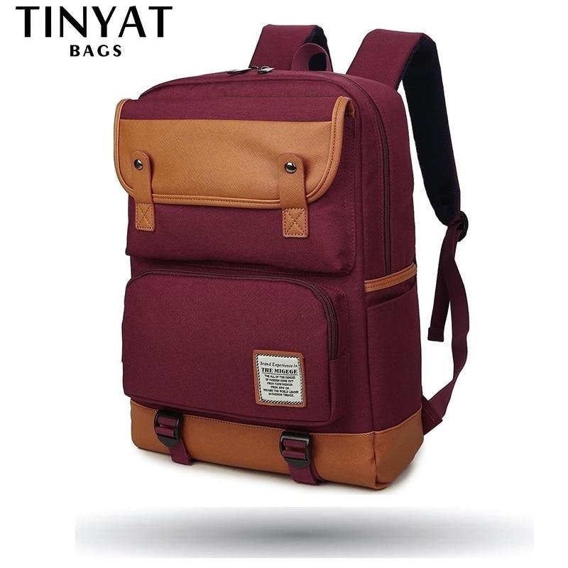 TINYAT 大女性 Mochila 十代の学校のバックパックバッグ女性のショルダーバッグデイパックノートパソコンのバックパック 15 インチコンピュータユニセックス  グループ上の スーツケース & バッグ からの バックパック の中 1