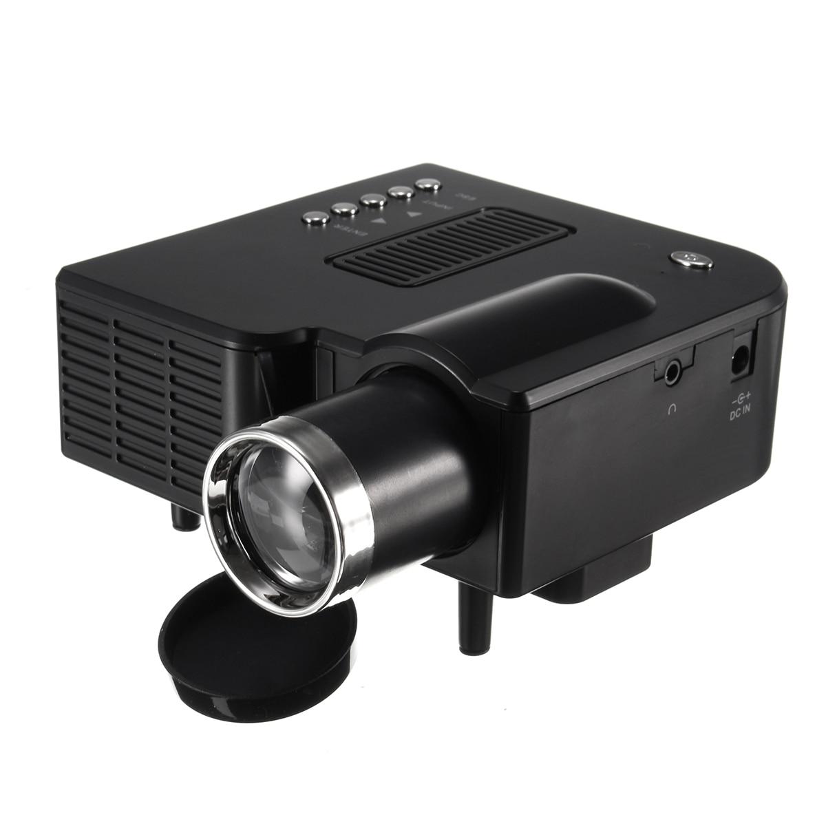 Vente chaude UNIC UC28 + projecteur à LED portable cinéma théâtre USB/SD/AV entrée Mini projecteur de divertissement noir/blanc US/AU