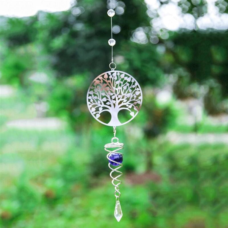 Tree of Life 3D Metal Hanging Wind Spinner Wind Chime Home Garden Ornament Gift