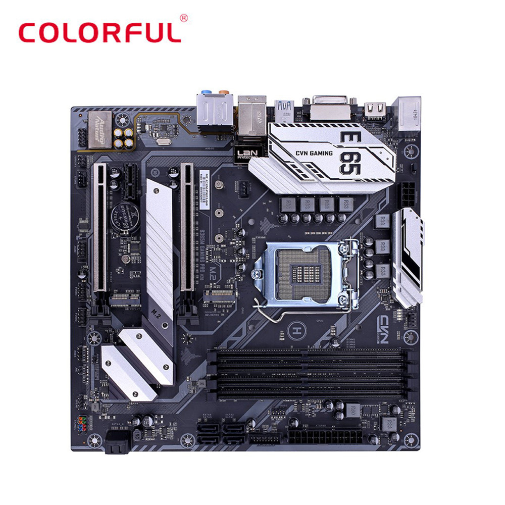 Colorful CVN B365M GAMING PRO V20 Intel Motherboard mATX Dual Channel M.2 SATA3.0 USB3.1 HDMI DVI DDR4 Motherboard image