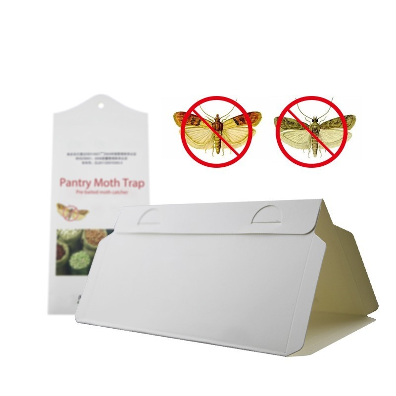 2pcs/lot Pheromone Pre-baited Pantry Moth Trap Pest Control Killer Mole Repeller Pest Reject Fly Trap Insects Household Use