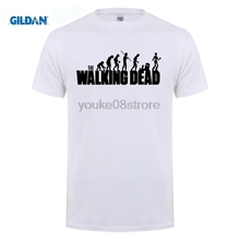 GILDAN The Walking Dead T Shirt Human Evolution T-Shirt Men Women Unisex Tee Clothing Short Sleeve TWD Tshirt