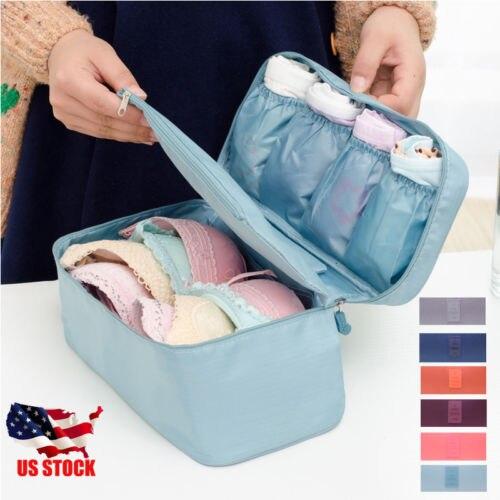 Bra Underwear Socks Lingerie Handbag Organizer Bag Storage Case For Travel Trip(China)
