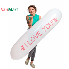 67inch 170cm Giant Airship Love Wedding Party Decorations Long Rocket Looner Heart Balloon Fetish Lover Riding Inflable Toys
