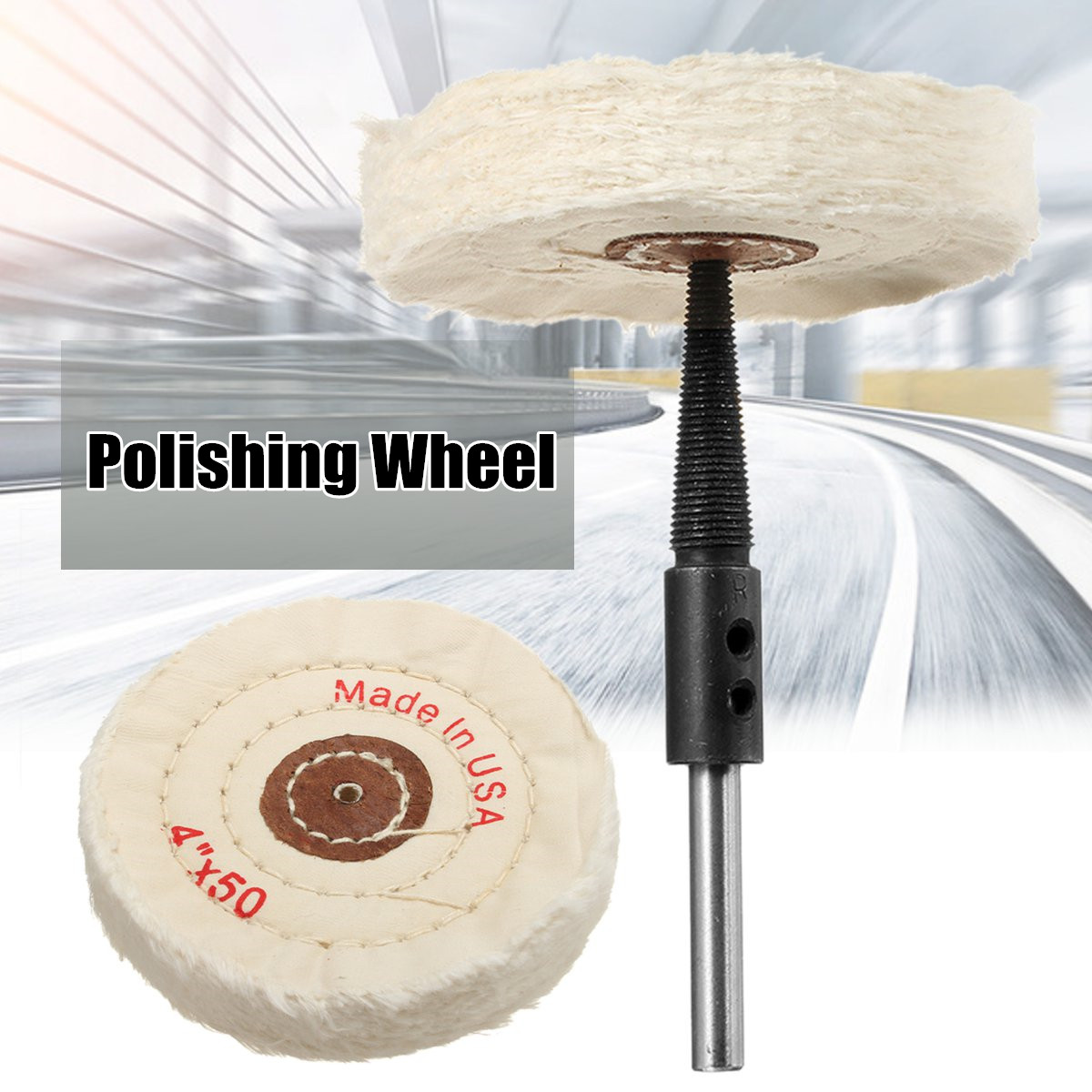 Drillpro 4 Inch Polishing Wheel Adapter Set Felt Wool Changed Electric Drill Into Polishing Machine Abrasive Tools