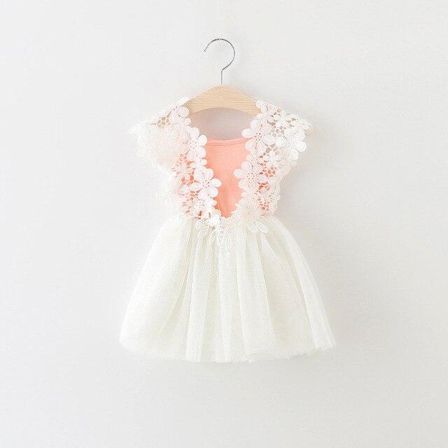 d7703fdd87e13 2017 été bébé fille robe dentelle fleur bébé princesse robe maille bébé  fille vêtements nouveau-