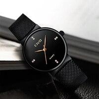 CIVO Senhoras Relógio de Moda de Nova Para as mulheres À Prova D' Água 2019 mulher Relógios de Marca de Luxo de Aço Preto Malha ultra fino Relógio Reloj mujer|Relógios femininos| |  -