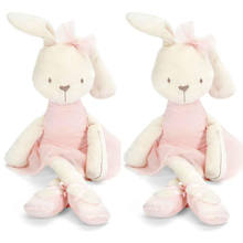 Hot Sale Cute 42cm Large Soft Stuffed Animal Bunny Rabbit Toy Baby Kid Girl Pillow Pets Accompanying Toys While Sleeping(China)
