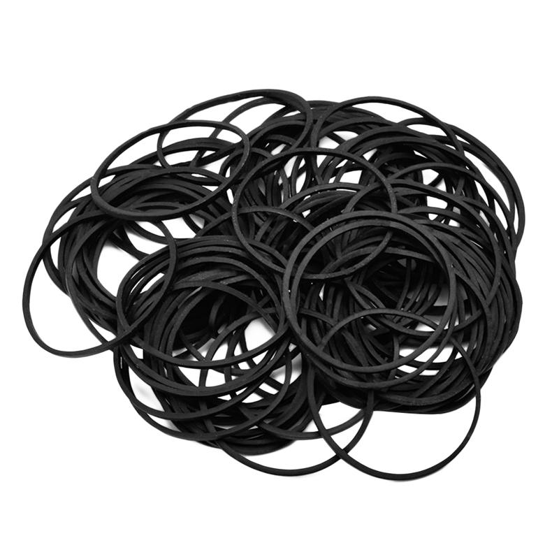 100pcs Tattoo Rubber Bands Elastic Durable Black Parts Bungee Bands Cord Tool for Tattoo Machine Tattoo Supply