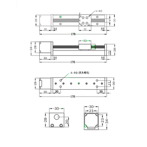 Image 4 - CNC MIni Linear Guide Rail Slide Actuator T6 Lead Screw Motion Stepper Motor Stroke 50 200MM