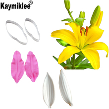Lily Petal Veiners Silicone Molds Fondant Sugarcraft Gumpaste Clay Water Paper Cake Decorating Tools CS250 помада chantecaille hydra chic lipstick water lily цвет water lily variant hex name b05d68