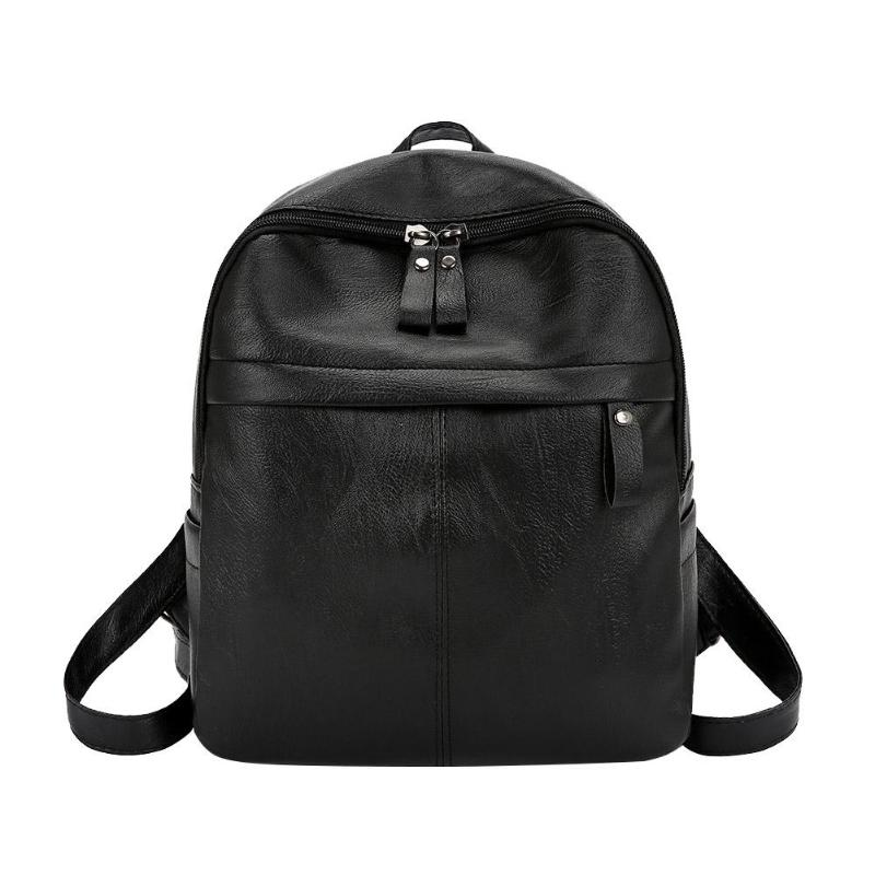 Casual Women Bagpack Fashion Small Backpack Girl Preppy Bags Pu Leather Solid Shoulder Hand Bags Travel Schoolbags