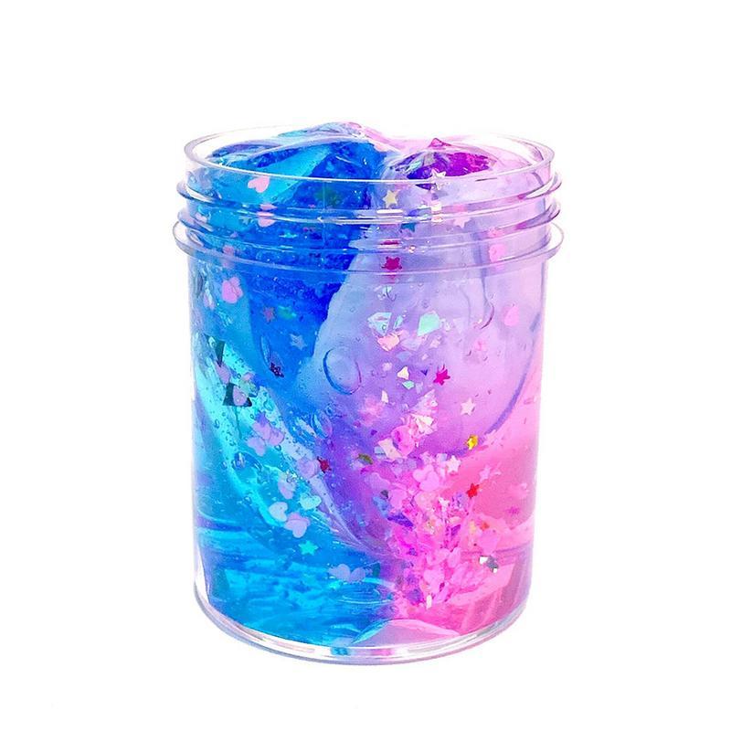 Slime  Galaxy Crystal DIY Slimes Soft Clay Anti-stress Light Plasticine Funny Antistress Toys Slime