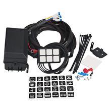 6 Gang Switch Panel de relé electrónico caja de Control de circuito impermeable relé de fusibles caja cableado arnés montajes para coche Au