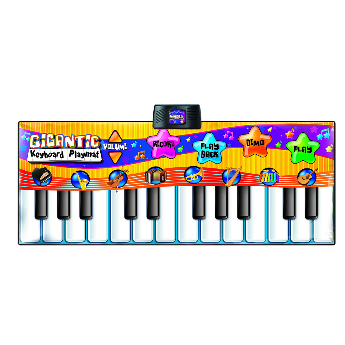 Piano Dance Mat Music Playmat Toy with 24 Key for Children Learning Music Support Kid Playing Kit