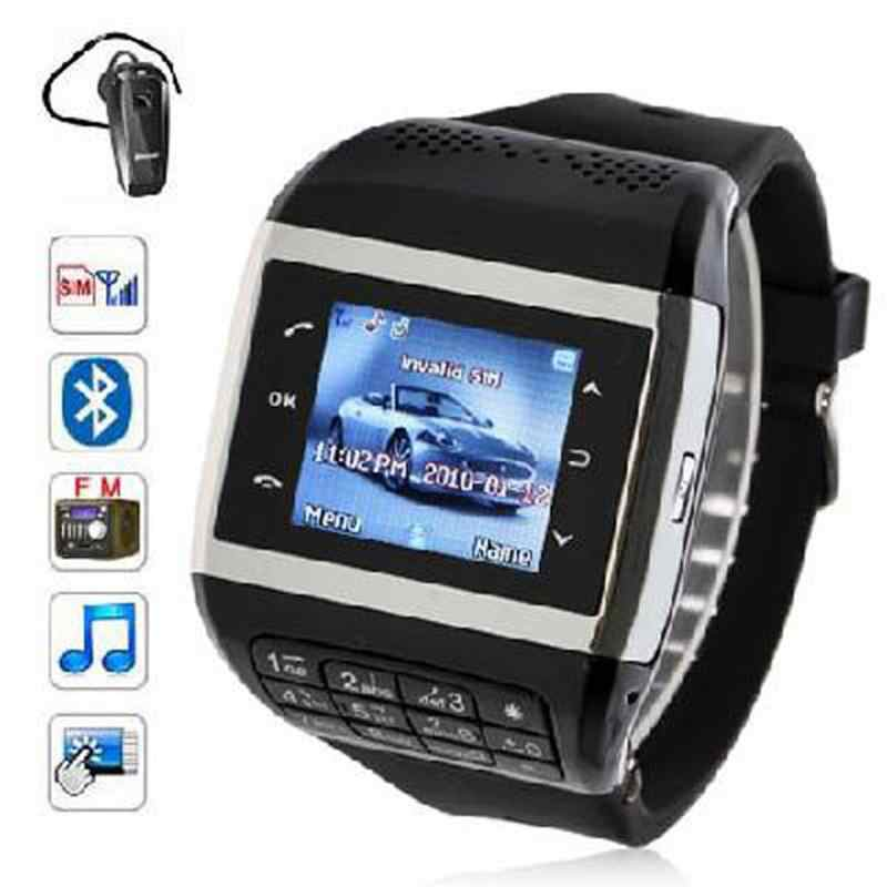 Wrist Watch Cell Phone Q5+ Watch Phone 1.3 inch Touch Screen Smart Watch with Mobilephone Function Smart watch with keys