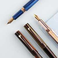 For Moonman N3 Celluloid Acrylic Beautiful Stripes Fountain Pen Iridium EF/F 0.5mm Nib Fashion Excellent Office Writing Gift Set