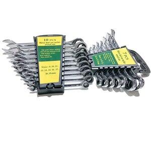 Image 2 - 8 19mm Ratchet Metric Wrench Tool Set Utensili A Mano per la Riparazione di Auto Chiavi Chiave di UNA Serie di Chiave