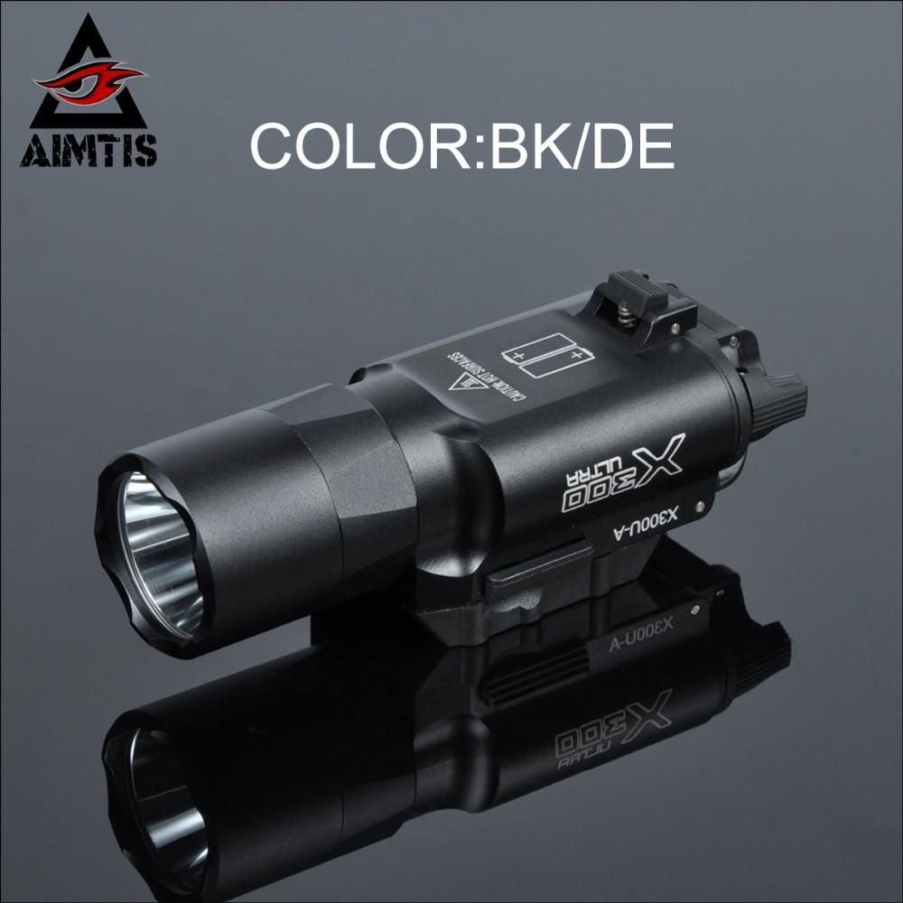 AIMTIS Tactical X300 Ultra Handgun LED Weapon Light Waterproof Hunting WeaponLights Tactical Spotlight CREE Q5 Flashlight