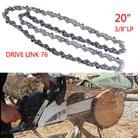 Saw chain 2pcs 20'' Chainsaw Chain Blade Wood Cutting Chainsaw Parts 76 Drive Links 3/8 Pitch Chainsaw Saw Mill Chain