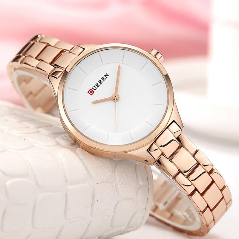 CURREN mode or Rose montre femmes en acier inoxydable dames montre-bracelet femme horloge de luxe Relogio Feminino zegarek damski 2019