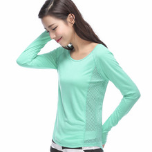Quick-dry Sports T-shirt Women Sport Wear Long Sleeve Shirt Tops Fitness Clothing Suit Gym Clothes Yoga Top fitted quick dry gym long sleeve t shirt