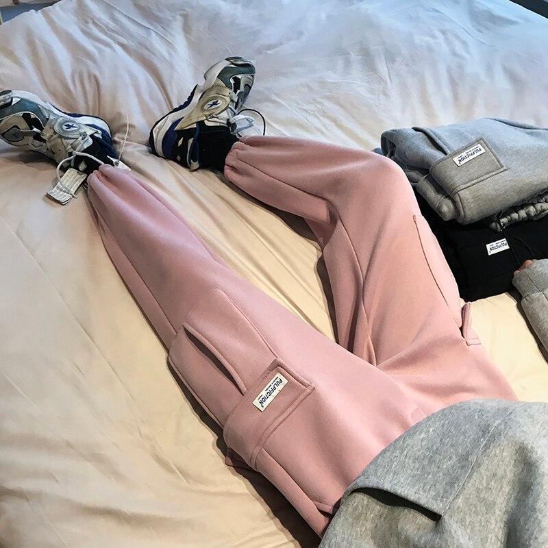 Lâche Noir De Pantalon Gris La Plus Roses gris 2xl Tendance Hommes Occasionnels Petit Velours Épais Version M Hiver rose Coréenne 2018 Pieds poudre 5xwFt